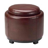 Safavieh Jasper Round Tray Storage Ottoman