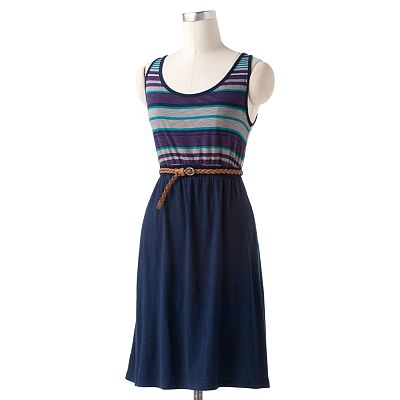 SONOMA life + style Striped Tank Dress