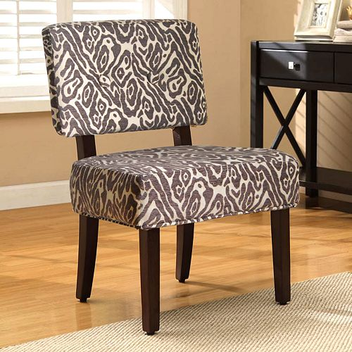 Furniture living room furniture accent chair leopard print