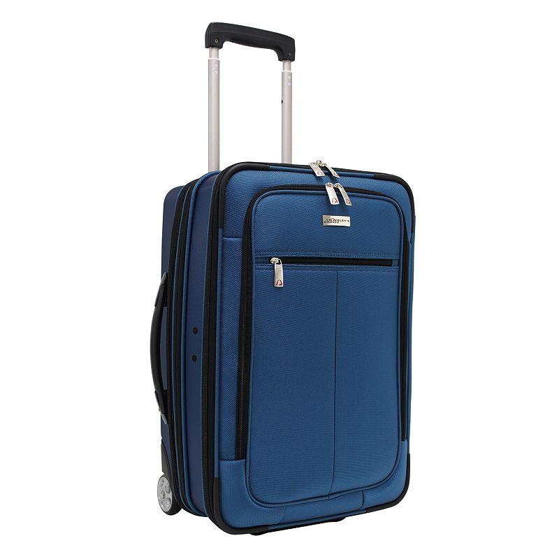 Traveler's Choice Luggage, Siena 21-in. Hybrid Wheeled Carry-On & Garment Bag (Blue)