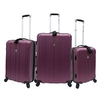 Traveler's Choice 3-Piece Cambridge Hardcase Luggage Set