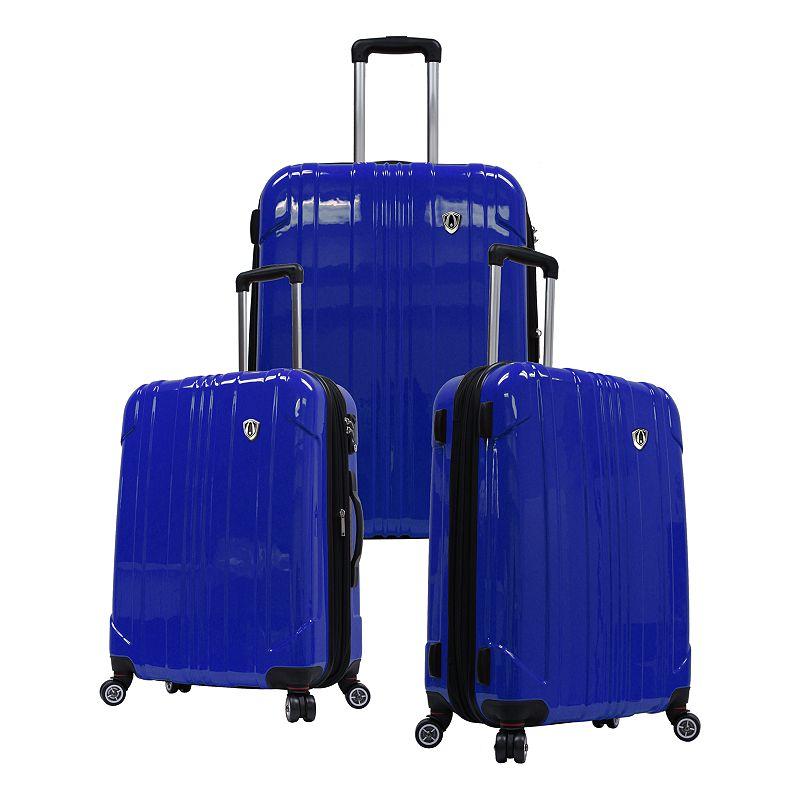 Traveler's Choice 3-Piece Sedona Hardcase Luggage Set, Blue