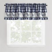 Park B. Smith Provencal Rooster Tier Window Valance - 60'' x 14''