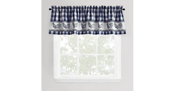 Park B Smith Provencal Rooster Tier Valance 60 X 14