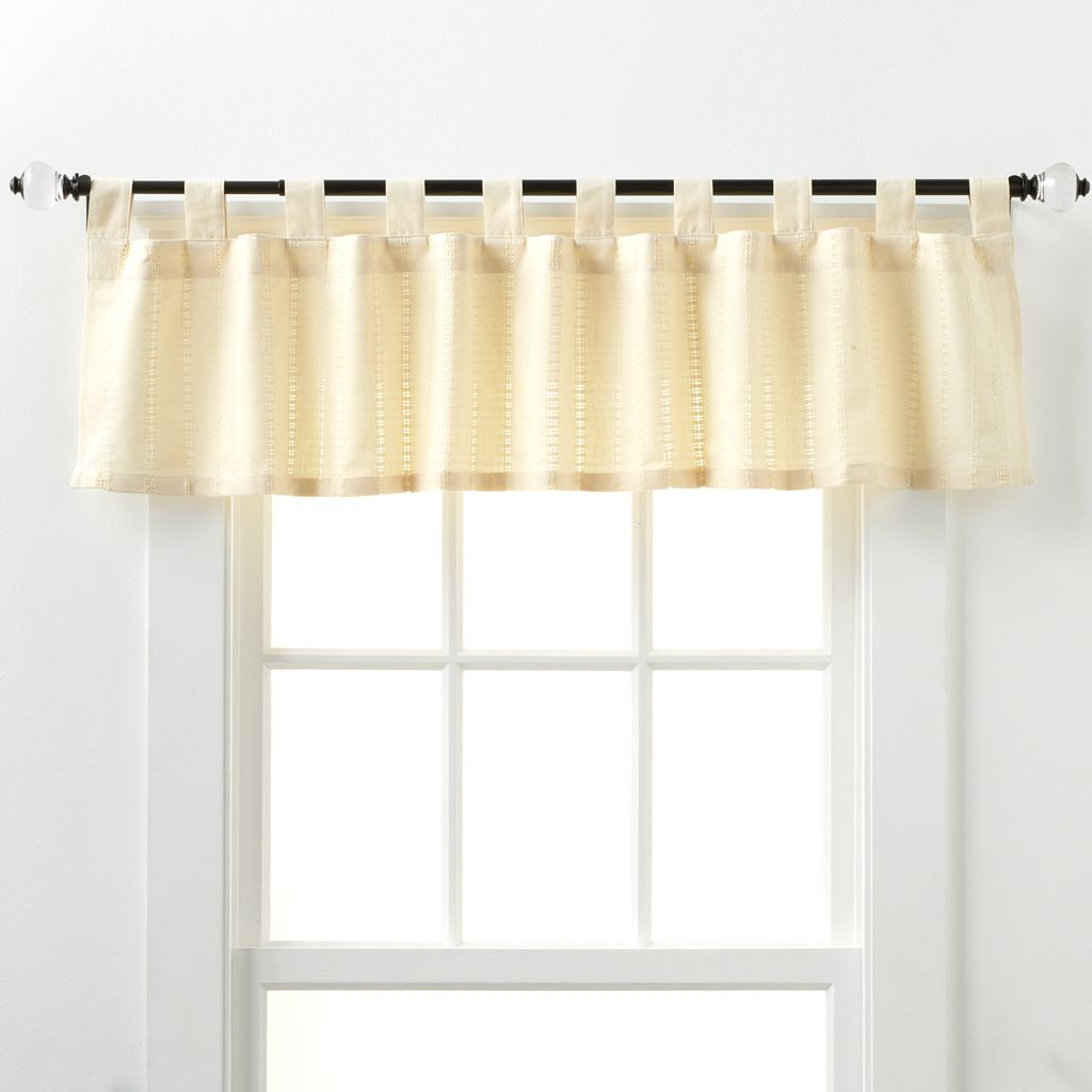 Eyelet Kitchen Valance