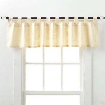 Eyelet Kitchen Window Valance