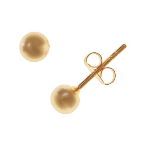 18k Gold-Over-Silver Stud Earrings