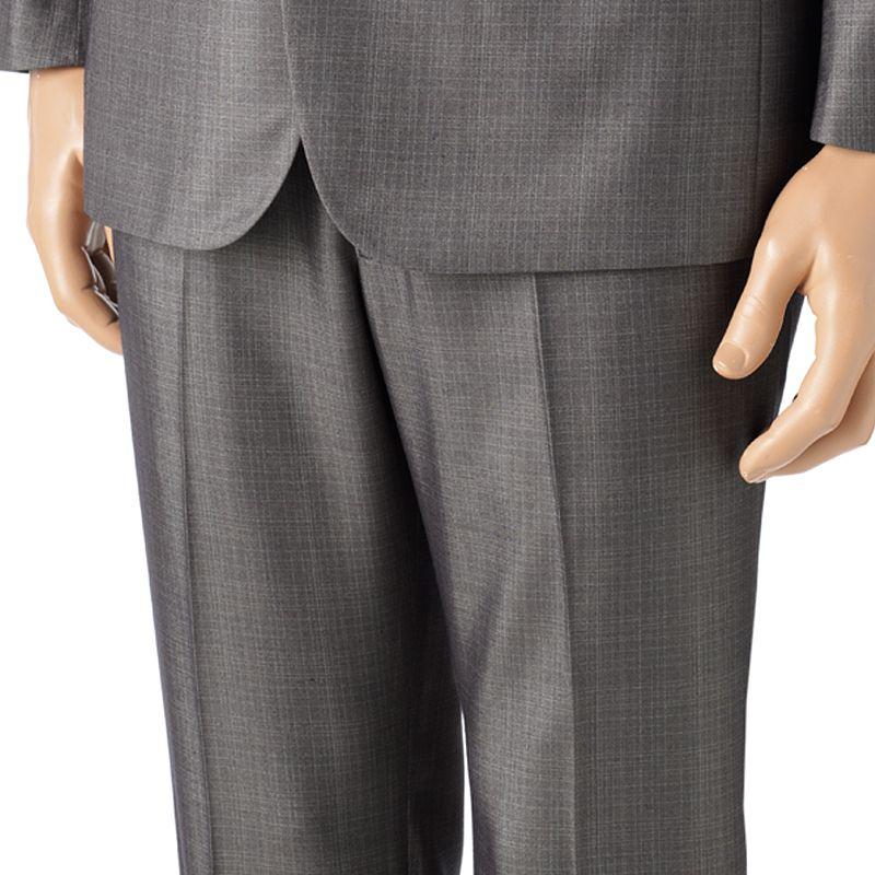 Billy London Slim-Fit Sharkskin Flat-Front Charcoal Suit Pants
