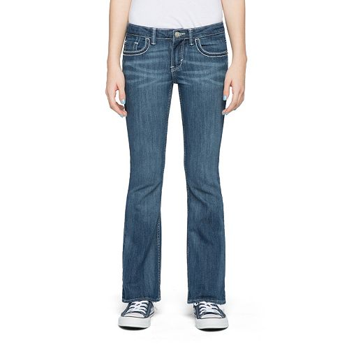7-16 &amp Plus Size Levi&39s 715 Thick Stitch Taylor Bootcut Jeans