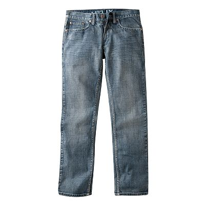 Helix Slim Straight Silver Cross Jeans