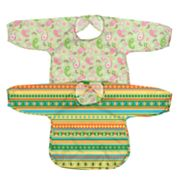 Green Sprouts by i play. 2-pk. Striped and Paisley Waterproof Bibs - Toddler