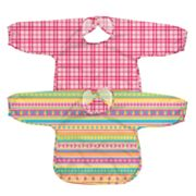 Green Sprouts by i play. 2-pk. Striped and Plaid Waterproof Bibs - Baby