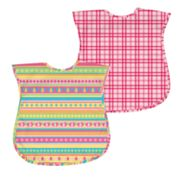 Green Sprouts by i play. 2-pk. Plaid and Stripes Waterproof Bibs - Baby