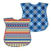 Green Sprouts by i play. 2-pk. Argyle and Striped Waterproof Bibs  - Baby