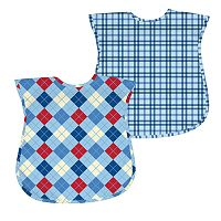Green Sprouts by i play. 2-pk. Argyle & Plaid Waterproof Bibs - Baby
