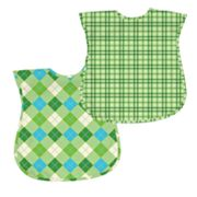 Green Sprouts by i play. 2-pk. Plaid and Argyle Waterproof Bibs - Baby