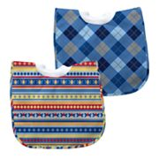 Green Sprouts by i play. 2-pk. Striped and Argyle Waterproof Bibs - Baby