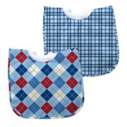 Green Sprouts by i play. 2-pk. Argyle and Plaid Waterproof Bibs - Baby