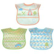 Green Sprouts by i play. 3-pk. Farm Scene Waterproof Bibs  - Baby