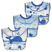 Green Sprouts by i play. 3-pk. Whale Waterproof Bibs  - Baby