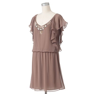 Expo Embellished Chiffon Blouson Dress