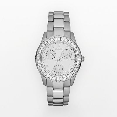 Relic Stainless Steel Crystal Watch - ZR15661 - Women