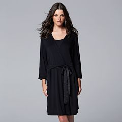 Women's Simply Vera Vera Wang Basic Luxury Wrap Robe