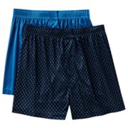 Croft and Barrow 2-pk. Lattice Microfiber Knit Boxers