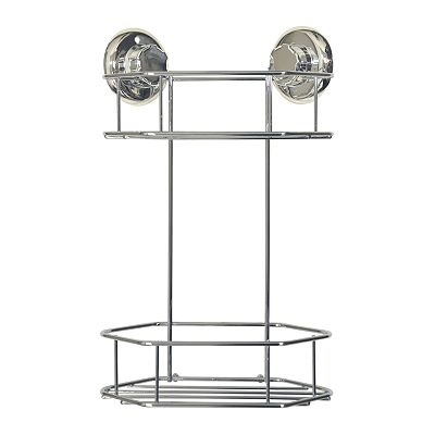 Famous Home Fashions EZ Hold Suction London Corner Shelf