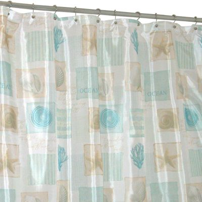 Famous Home Fashions Seaside Fabric Shower Curtain