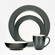Noritake Colorwave Graphite Rim 4-pc. Place Setting