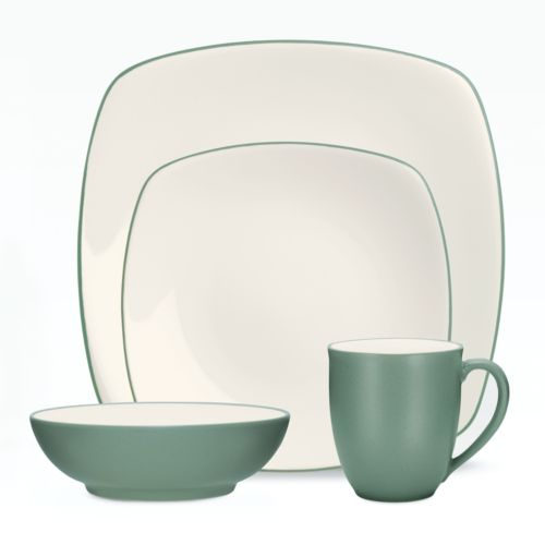 Noritake Colorwave Green Square 4-pc. Place Setting