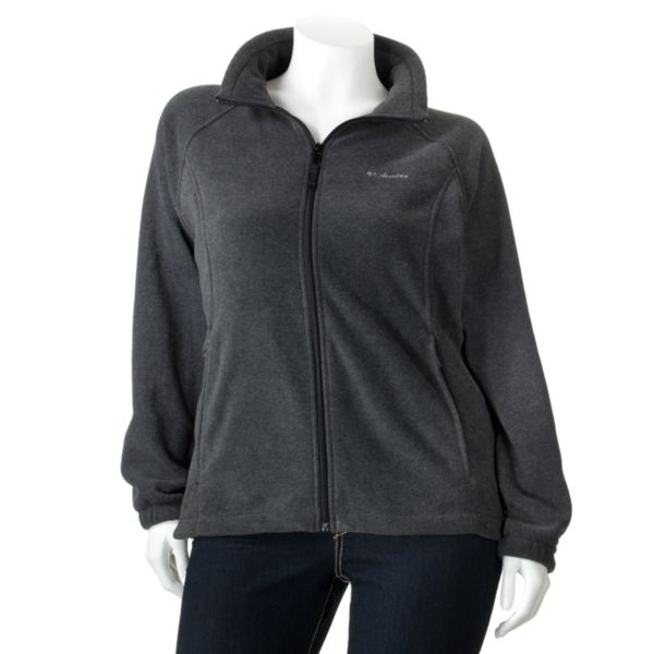 Columbia Sportswear Solid Fleece Jacket Women,s Plus