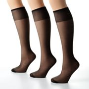 Hanes Too Day Sheer 3-pk. Knee-Highs