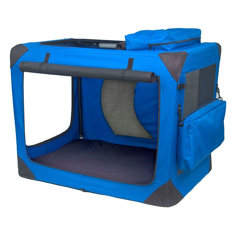 Pet Gear Generation II Deluxe 35 3/4-in. Portable Soft Crate, Blue
