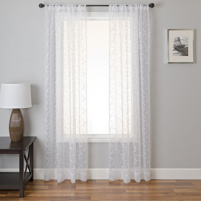 Ziba 1-pack Window Curtain, White, 50X84
