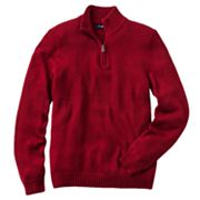 Croft and Barrow Solid 1/4-Zip Mockneck Sweater