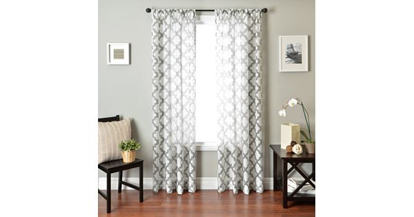 Kohl S Kitchen Curtains: Phyllis Burnout Window Panel