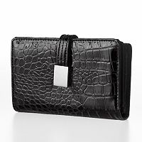 Croft & Barrow® Abbey Crocodile Indexer Wallet