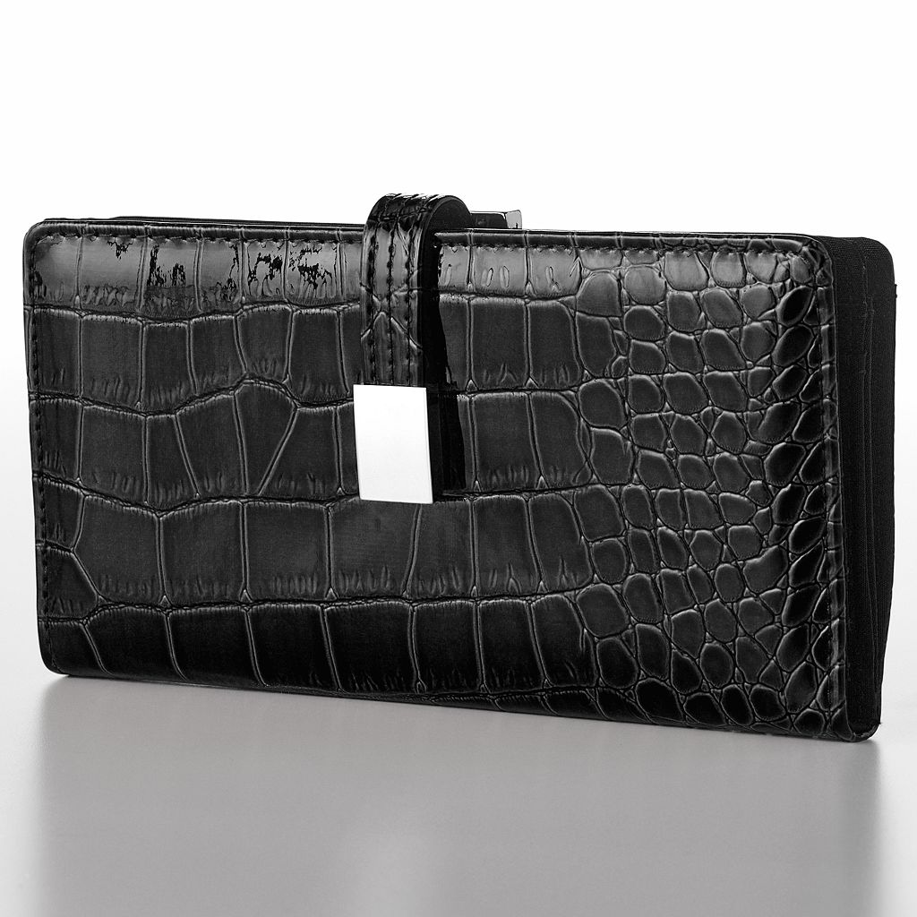 Croft & Barrow® Abbey Crocodile Clutch Wallet