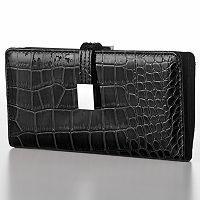 Croft & Barrow® Abbey Crocodile Clutch Wallet