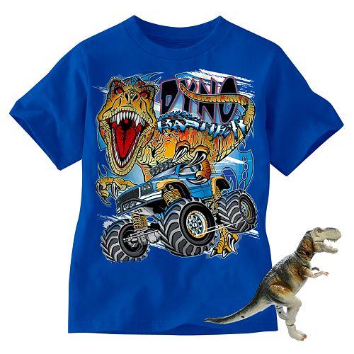 Dinosaur And Monster Truck Tee - Boys 4-7 $ 8.00