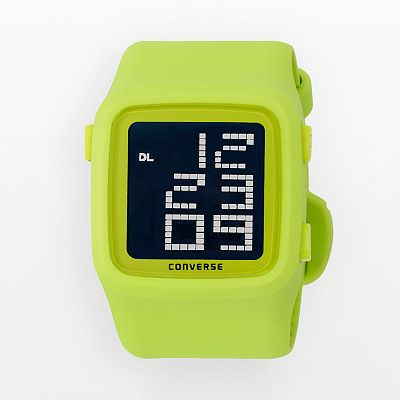 Converse Scoreboard Icon Acid Green Silicone Digital Chronograph Watch - VR002340