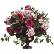 Allstate Floral 18-in. Artificial Rose, Hydrangea And Aster Floral Arrangement