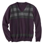 Van Heusen Plaid V-Neck Sweater