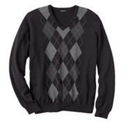 Van Heusen Center Argyle V-Neck Sweater