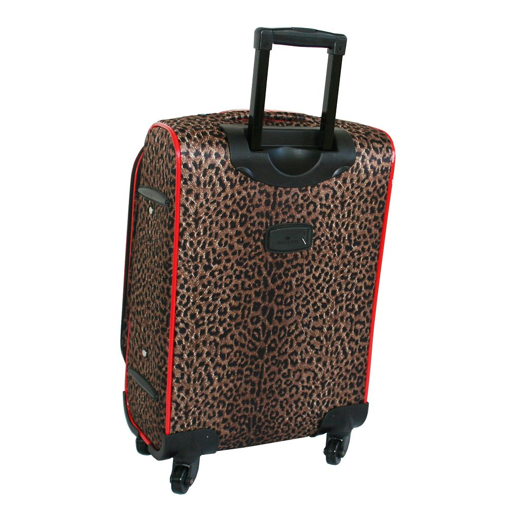 American Flyer 5-Piece Leopard Luggage Set