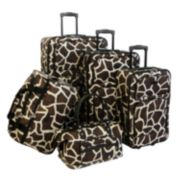 American Flyer Giraffe 5-Piece Luggage Set