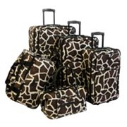 American Flyer Giraffe 5 pc Luggage Set