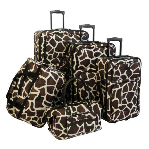 American Flyer Luggage, Giraffe 5-pc. Luggage Set